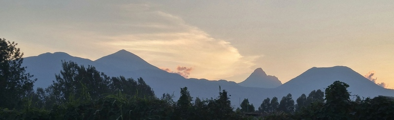 Virunga Volcanoes from Musanze - Karisoke sector