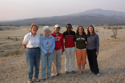 Alison Brooks (L), a professor of anthropology at GW's Center, worked with a team of GW students, international researchers and
